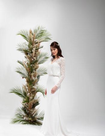 Robes de mariées - Maison Lecoq - robe N°041 SAGE 595 €