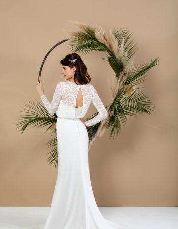 Robes de mariées - Maison Lecoq - robe N°041b SAGE 595 €