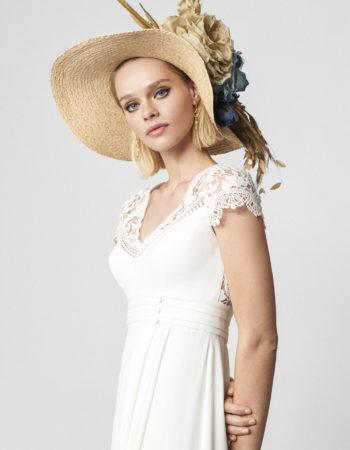 Robes de mariées - Maison Lecoq - robe N°062b Agnes 1495 €