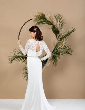 Robes de mariées - Maison Lecoq - robe N°041a SAGE 595 €